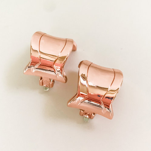 Rose Gold Rounded Square Clip Ons