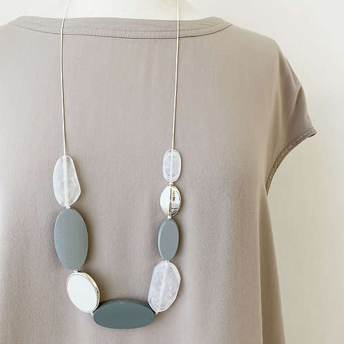 Resin & Wood Adjustable Necklace