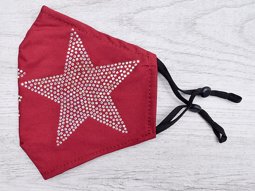 The Shining Star, Red with AB Crystal