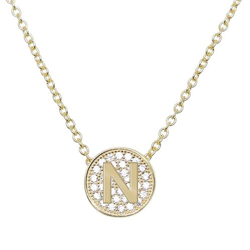"Initial ""N"" Pendant, Sterling Silver"