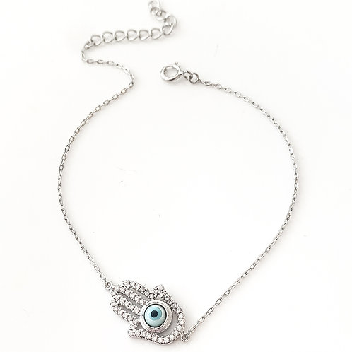 The Hamsa Sterling Silver Bracelet