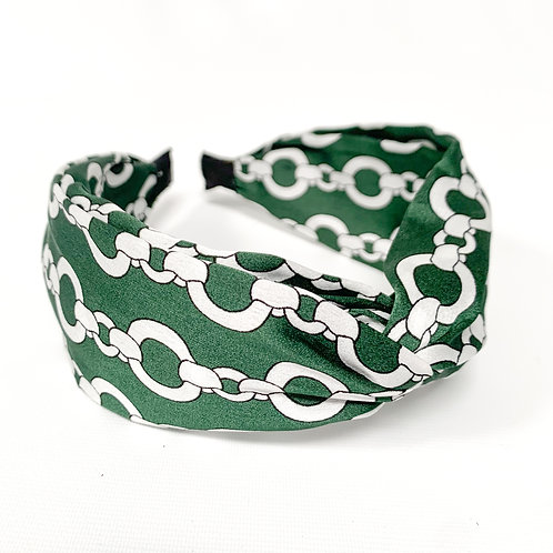 Satin Chain Top Knot Headband