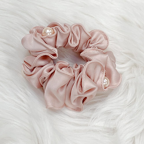 Satin Pearled Scrunchie