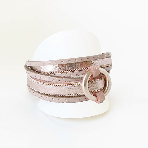The Circular Lock Wrap, Blush