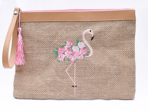 Flamingo Mask/Cosmetic Pouch