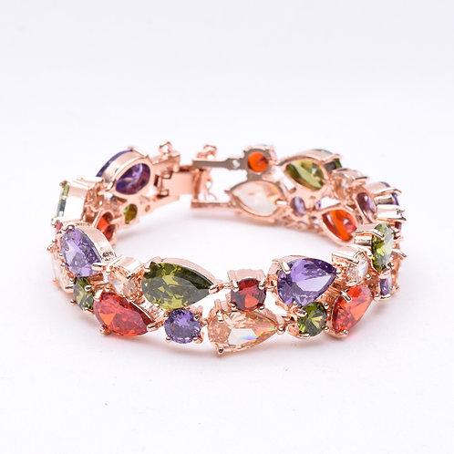 The Multicolour Princess Bracelet, Rose Gold