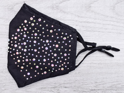 The Black Sparkle Mask, with AB Crystal