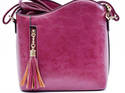The Tiffany Tassel Handbag, Plum