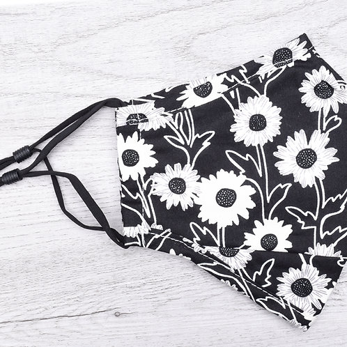 The Black and White Flower Mask