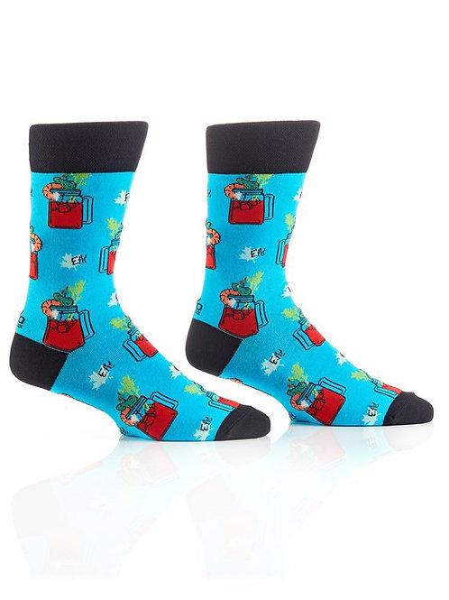 Men's Crew Socks, Canadian Caesar