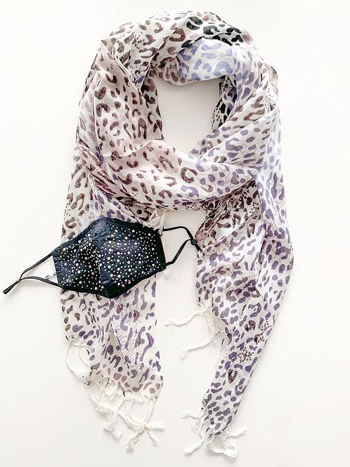 Mask & Scarf Set, Cheetah