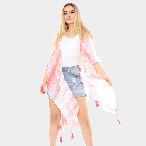 Tie Dye Kimono, Pink