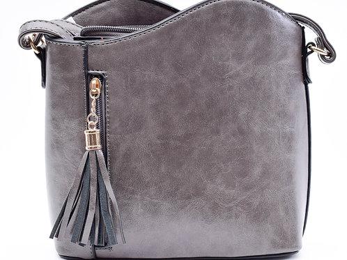 The Tiffany Tassel Handbag, Dark Grey