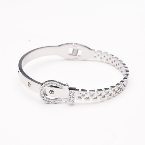 The Belt Buckle Bangle, Silver