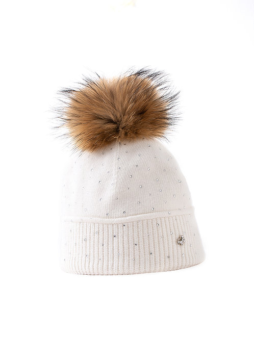 The Butterfly Toque, White