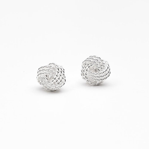 The Mini Knot Earring, 925 Sterling Silver