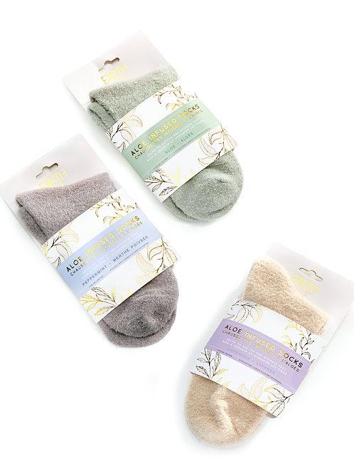 Aloe Vera Infused Socks, 3 Asst.