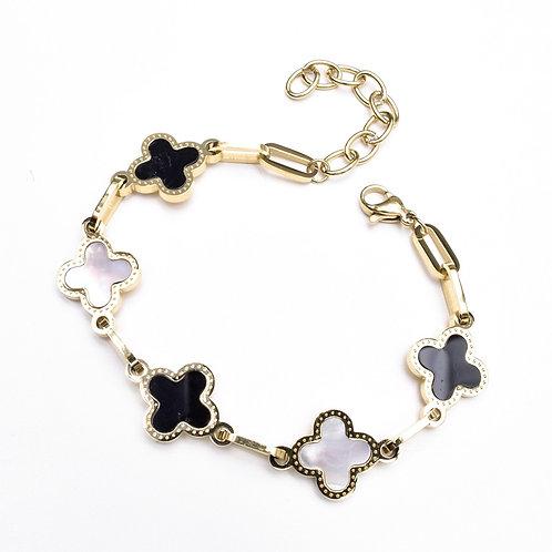 The Opposing Floret Bracelet, Gold