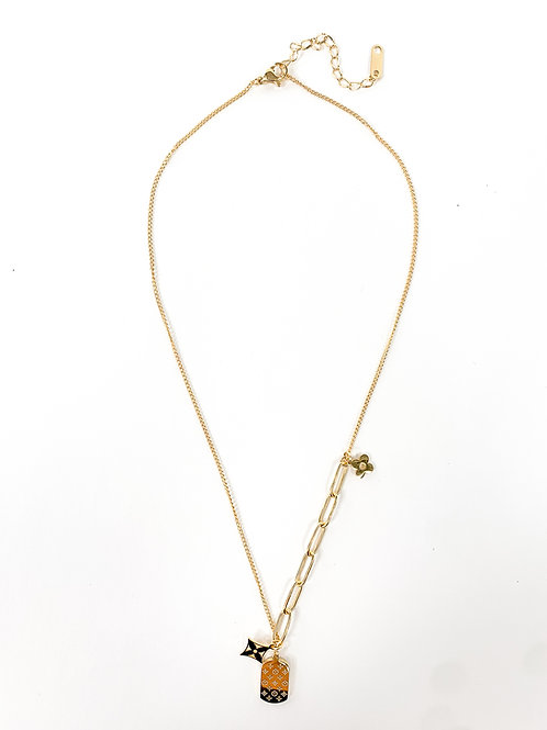 The Tag & Floret Pearl Paperclip Necklace, Gold