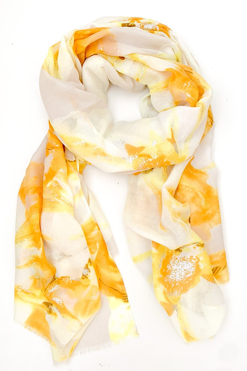 The Silver Lining Floral Scarf, Yellow