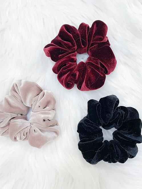 3-Piece Velvet Scrunchie Set