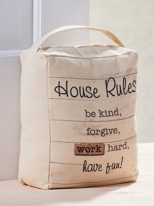 House Rules Door Stopper