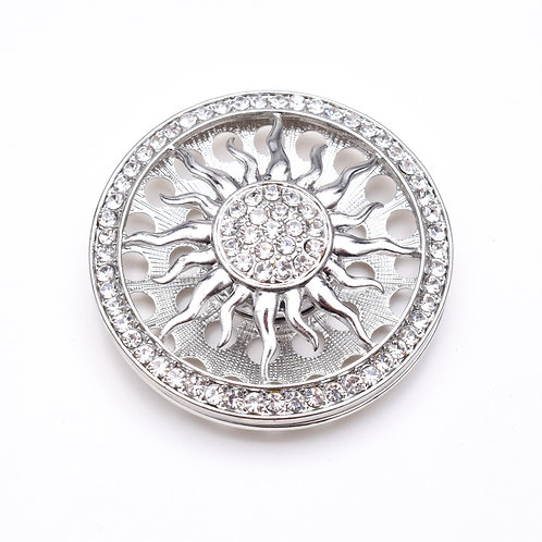 Sun Magnetic Brooch