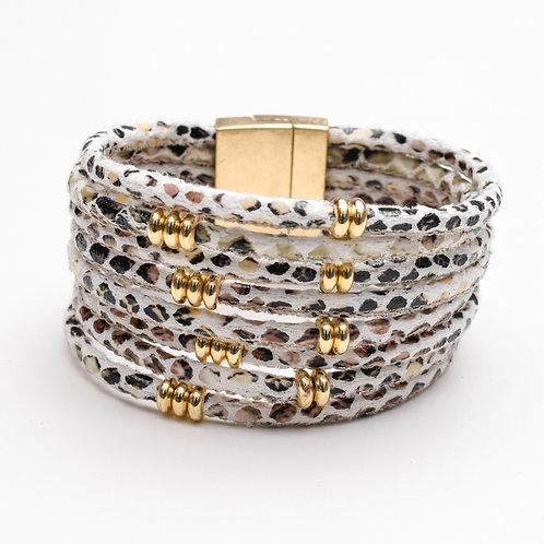 The Snaked Leather Bracelet