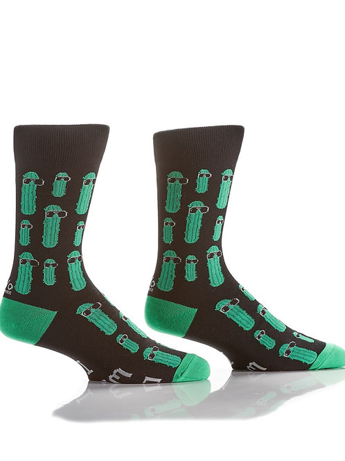 Men's Crew Sock, Cool Pickle