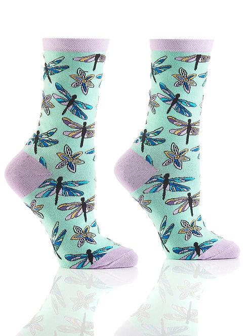 Women's Crew Socks, Dragonfly
