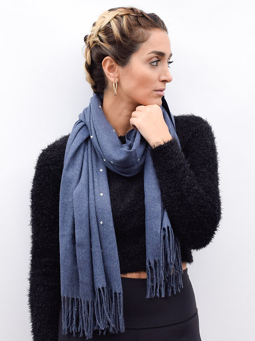 The Reflecting Diamond Scarf, Denim