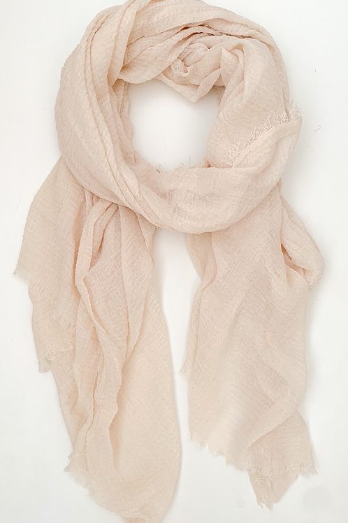 The Everyday Cotton Scarf, Beige