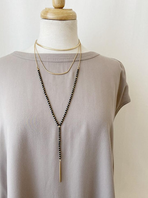 3-tier Bar and Rod Necklace