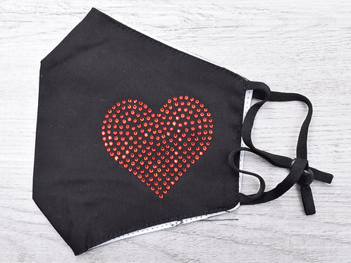 The Speckled Heart Mask