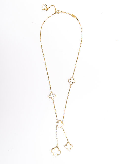 The Floating Clovers Necklace