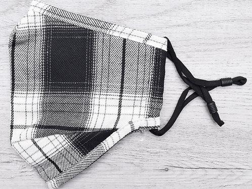 The Black & White Plaid Mask