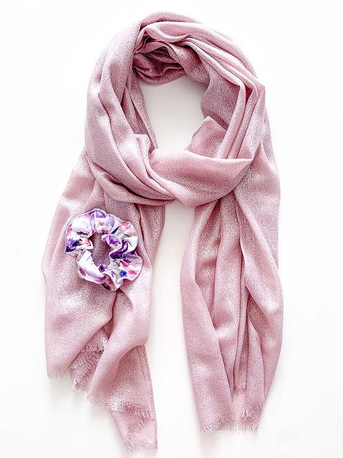 Scarf & Scrunchie Set, Pink