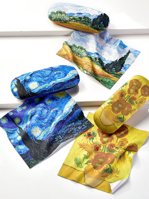 Van Gogh Glasses Case with Cloth