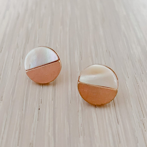 The Golden Pearl Studs