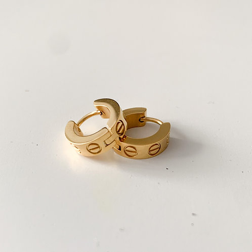 The Love Huggies, Stainless Steel, Gold