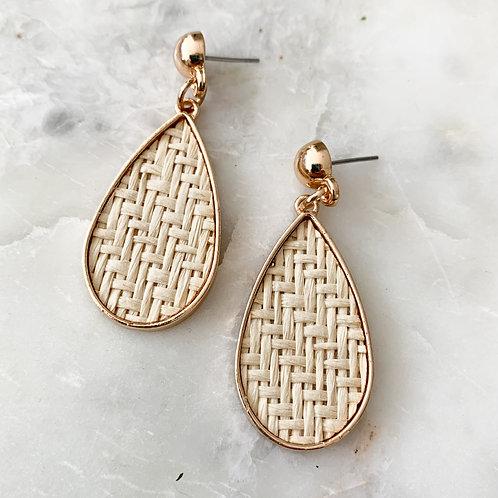The Weave & Drop Earring