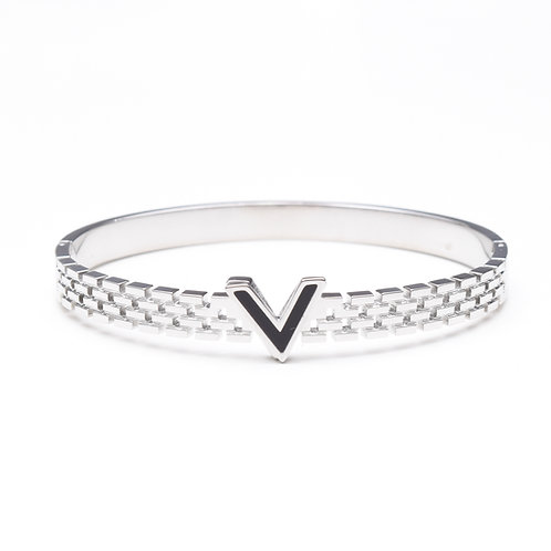 The Violet Onyx Bangle, Silver