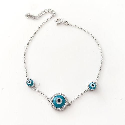 Triple Eye Sterling Silver Bracelet