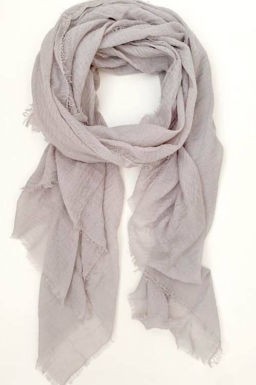 The Everyday Cotton Scarf, Grey