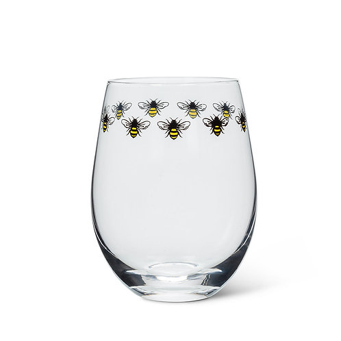 Bee Ring Stemless Goblet