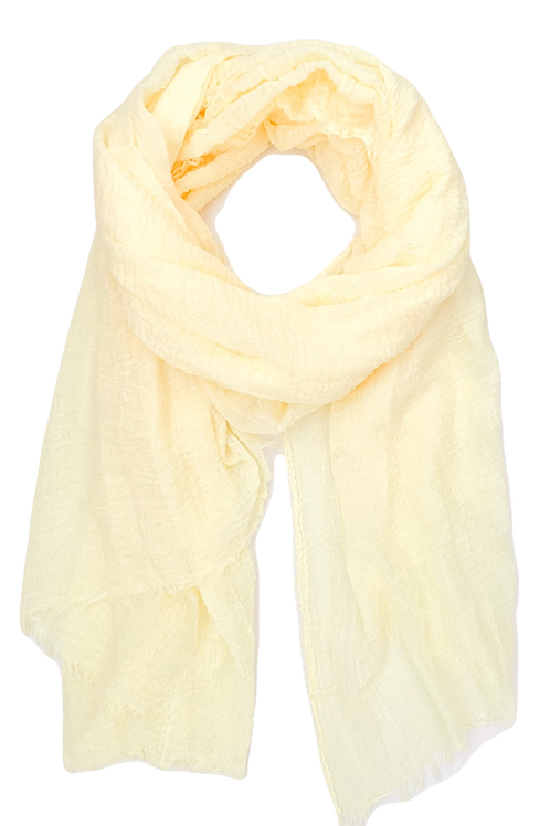 The Everyday Cotton Scarf, Light Yellow