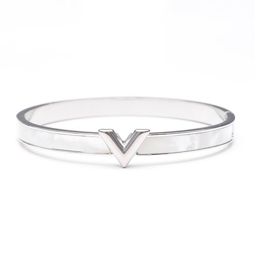The Violet Pearl Bangle, Silver