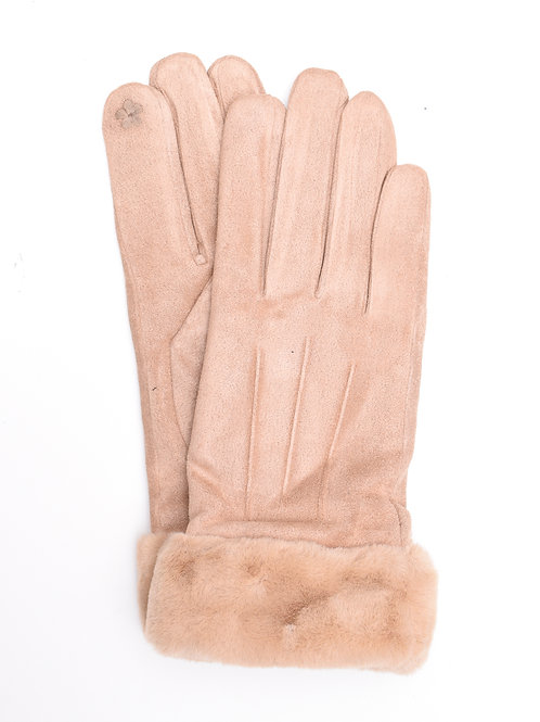 The Hudson Gloves, Beige