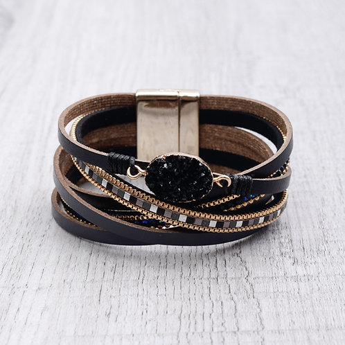 Druzy Crossover Bracelet