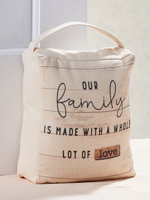 Family is Made Door Stopper